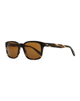 Oliver Peoples Wyler 54 Oversized Sunglasses, Dark Tortoiseshell