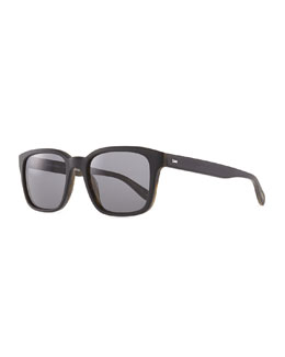 Oliver Peoples Wyler 54 Oversized Sunglasses, Brown