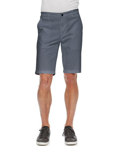 Griffin Flat-Front Shorts, Blue