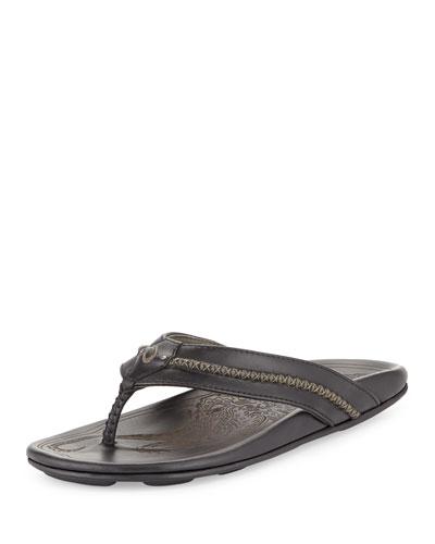 Mea Ola Men's Thong Sandal, Black