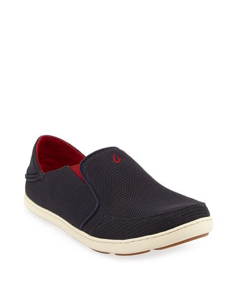 Olukai Nohea Mesh Slip-On/Fold-Back Sneaker, Black