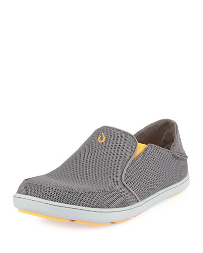 Nohea Mesh Slip-On/Fold-Back Sneaker, Dark Gray