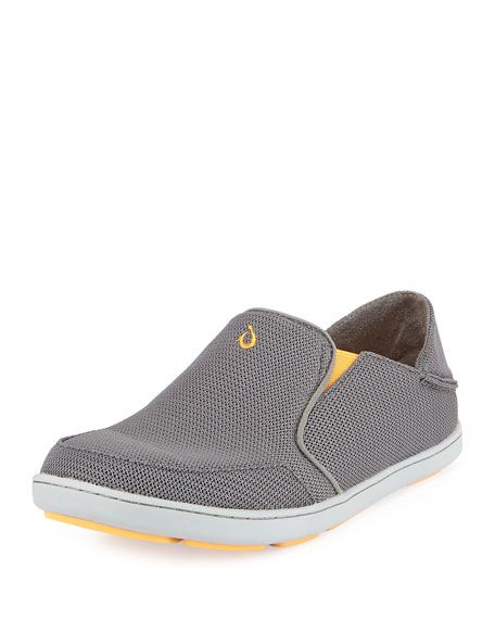 Olukai Nohea Mesh Slip-On/Fold-Back Sneaker, Dark Gray