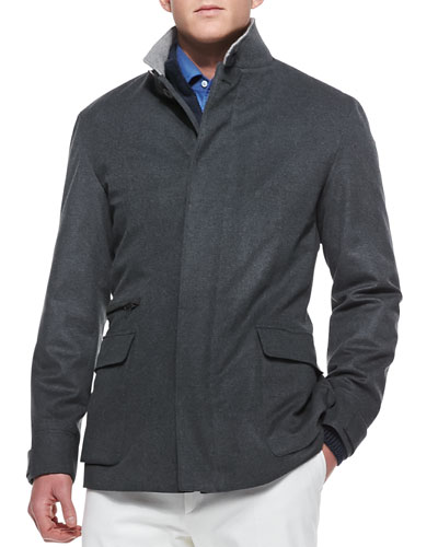 St. Germain Cashmere Jacket, Gray