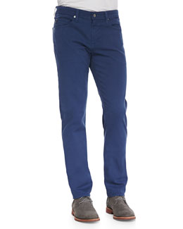 AG Adriano Goldschmied Protege Faded Twill Pants, Indigo Blue