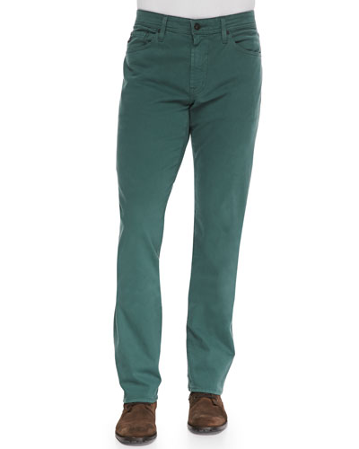 AG Adriano Goldschmied Protege Faded Twill Pants, Glade Green