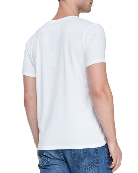 Short-Sleeve V-Neck T-Shirt, White