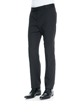 Alexander McQueen Wool/Mohair Basic Trousers, Black