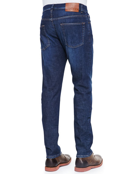 Stone-Wash Stretch-Denim Jeans
