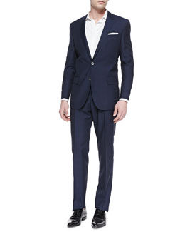 Boss Hugo Boss Hutson Windowpane Two-Piece Suit, Blue