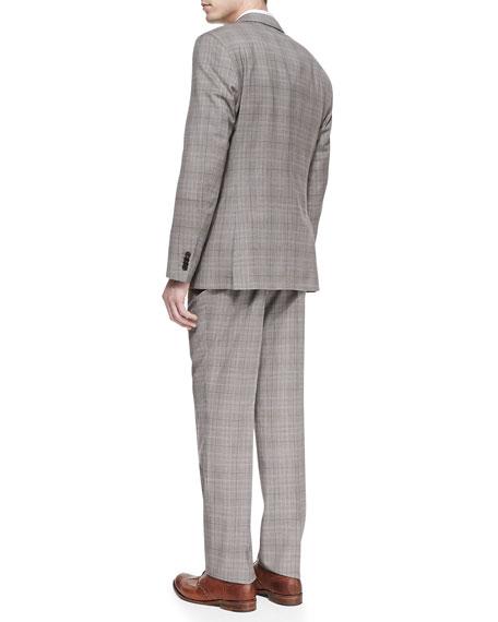 hugo two plaid suit brown