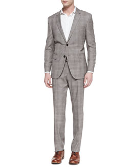 Boss Hugo Boss James Two-Piece Plaid Suit, Brown