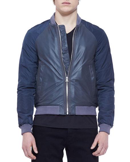 Napa Leather & Nylon Blouson Jacket