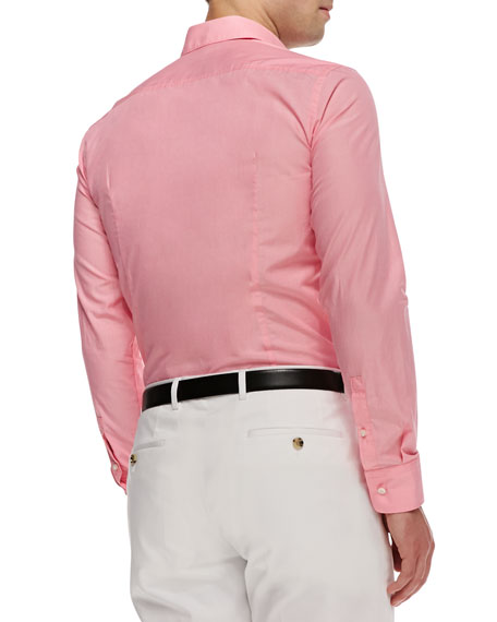 Hugo Boss Jaser End-on-End Sport Shirt, Pink