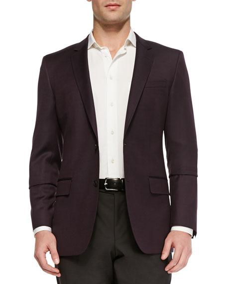 boss hugo boss slim fit hopsack jacket burgundy. Black Bedroom Furniture Sets. Home Design Ideas