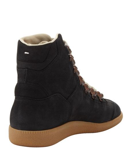 Men's Bulldog Lace-Up High-Top Sneaker, Black