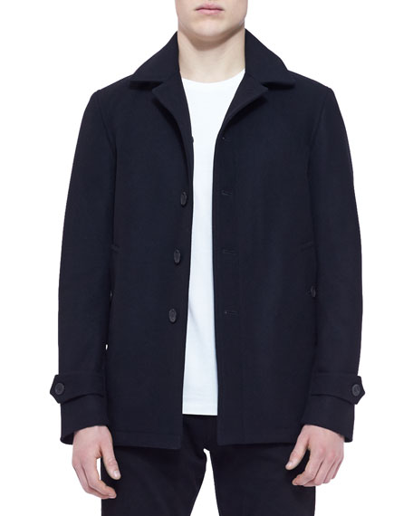 Burberry Brit Single-Breasted Wool/Cashmere Blend Car Coat