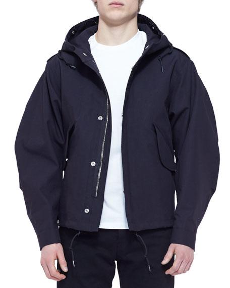 3-in-1 Jersey/Shearling Jacket, Black