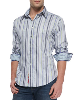 Robert Graham Benito Striped Sport Shirt