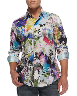 Robert Graham Mack Daddy Floral-Print Sport Shirt