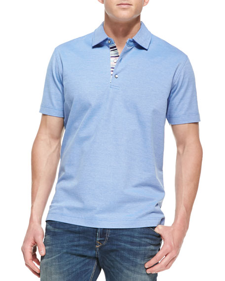 Tino Pique Polo Shirt, Bright Blue