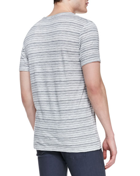 Striped Crewneck T-Shirt, Multicolor