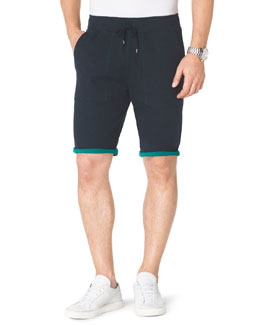 Michael Kors  Contrast-Cuff Fleece Shorts