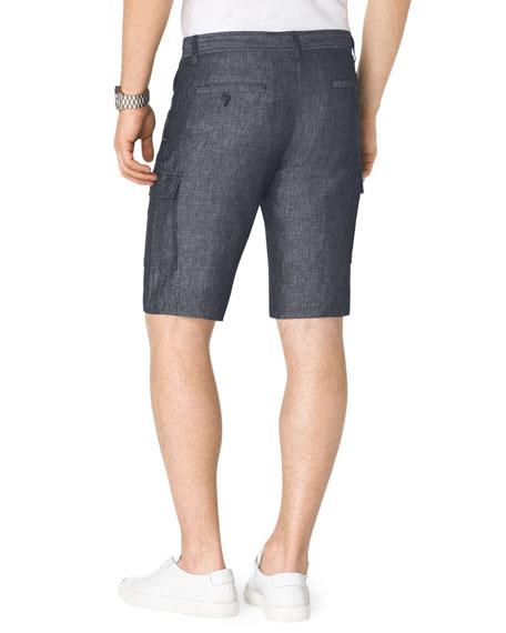Chambray Cargo Shorts