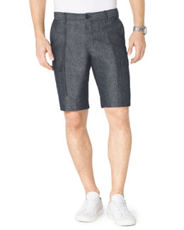 Michael Kors  Chambray Cargo Shorts