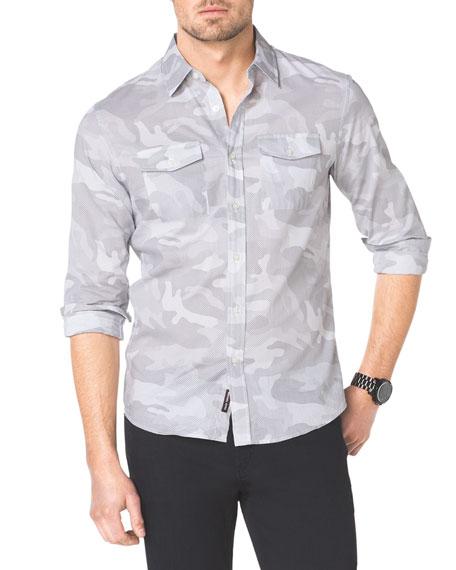 Camo-Print Two-Pocket Shirt