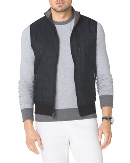 Michael Kors  Tech Fabric/Knit Reversible Vest
