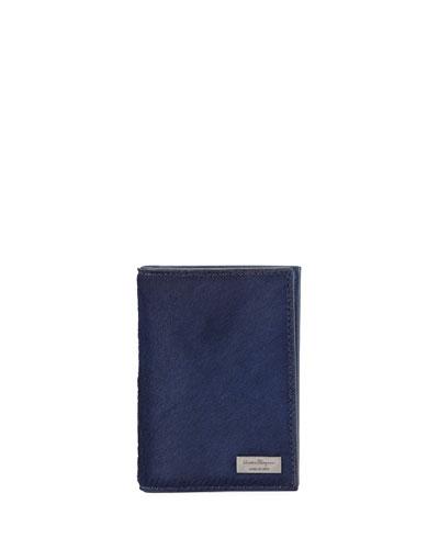 Salvatore Ferragamo Luxor  Calf Hair Card Case, Royal Blue