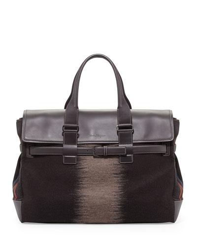 Salvatore Ferragamo Principe XL Weekender Bag, Marrone