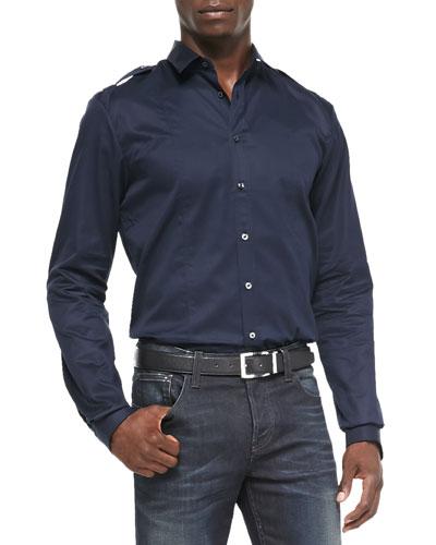 Twill Duke Shirt, Navy