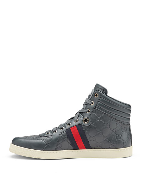 fbe58cb0425 Gucci Coda Guccissima High-Top Sneaker