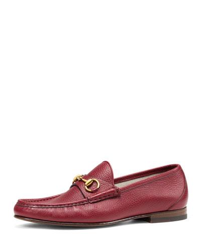 Gucci 1953 Leather Horsebit Driver, Rosso