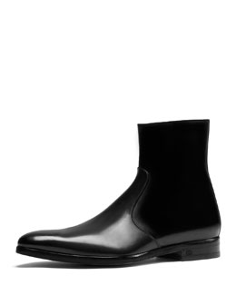 Gucci Leather Dress Boot, Draft