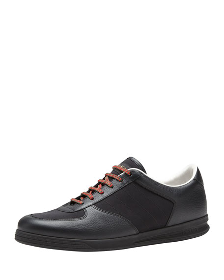 Gucci 1984 Leather Low-Top Sneaker, Black