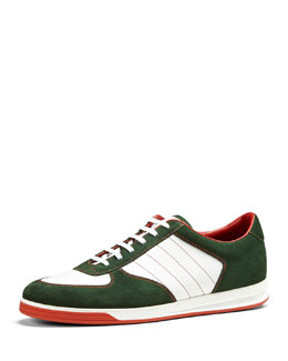 Gucci 1984 Suede Low-Top Sneaker, Green