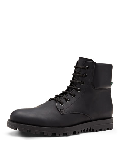 Gucci Rubberized Leather Boot, Black