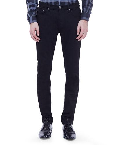Burberry London Straight-Leg Denim Jeans, Black