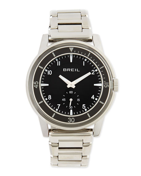 Breil Orchestra Black-Dial Stainless Steel Bracelet Watch
