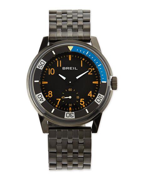 Orchestra Black-Plated Bracelet Watch, Black