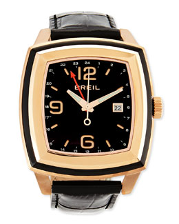Breil Orchestra Crocodile-Embossed Rose Gold Watch