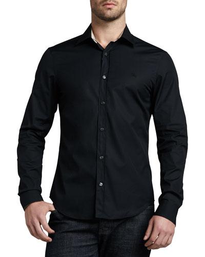 Henry Check-Trim Button-Down Shirt