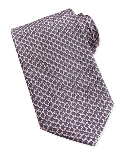 Salvatore Ferragamo Butterfly-Pattern Woven Tie, Yellow