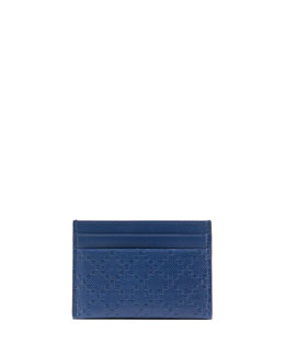 Gucci Diamante Leather Card Case, Blue