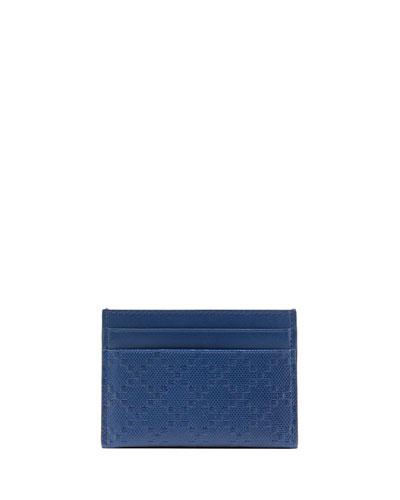 Gucci Diamante Leather Card Case, Blue