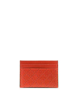 Gucci Diamante Leather Card Case, Orange