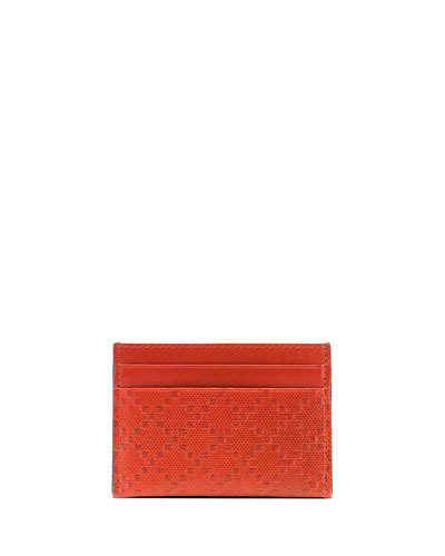 Gucci Diamante Leather Card Case, Orange